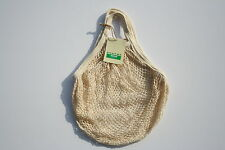 Boulevard String Shopping Bag made from recycled unbleached cotton,Short Handles
