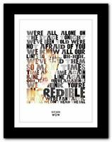 ❤ KATE BUSH - Wow #2 ❤ song lyrics typography poster art print - A1 A2 A3 or A4