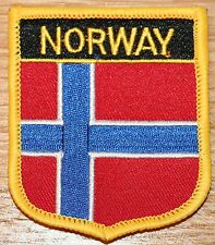 NORWAY  Shield Country Flag Embroidered PATCH Badge P1