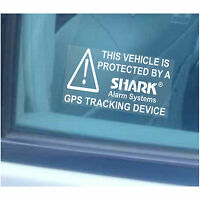 5 x Car,Van,Vehicle,Taxi Protected by Shark Alarm Security Stickers-GPS Tracker