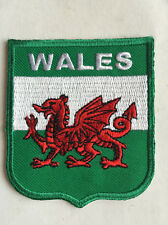 Wales Flag Embroidered Sew/Iron On Patch Patches