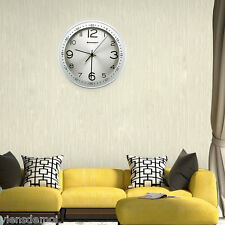 """12"""" Modern Analog Atomic Large Number Silent Metal Wall Clock Home/Office Decor"""