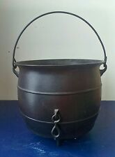 Antique Cast Iron Black No 8 GATEMARK 3 Leg CAULDRON Kettle Pot w/ Bail Handle