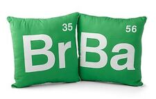 Breaking Bad Logo 12-Inch Plush Pillow Set of Two Walter White Jesse Pinkman