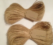 100m Luxury 2-Ply Soft Natural Jute Twine Hessian String Shabby Chic