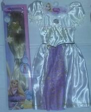 "Disney ""Tangled"" White Rapunzel Dress 4-6x & 2 ft Light Up Wig Halloween Costume"
