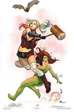 Frank Cho Brandon Peterson SIGNED Batman Art Print AP Harley Quinn Poison Ivy