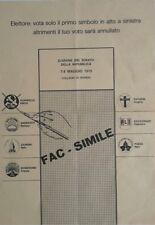 Rovigo Propaganda elezioni politiche del 1972 collegio di rovigo