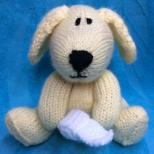 KNITTING PATTERN - Clover the Labrador toilet roll puppy dog orange cover / toy