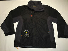 BNWT Mens Regatta TRW433 Windfall Stretch Jacket. Black/ Grey S D91