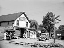 General Store with Gas Pumps, Atlanta, Ohio - 1939 - Historic Photo Print