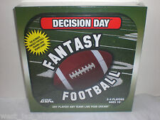 Sunday Night NFL Decision Day Fantasy Football League Board Game Trading Cards