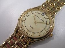 A86 NEW JB CHAMPION Gold Dress Steel Band WATCH VINTAGE St. Steel Classy