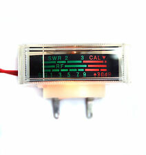 2pc SWR RF SIG Panel Meter H-319-8456 Display=35x14mm 14V40mA Bulb Lamp NISSEI