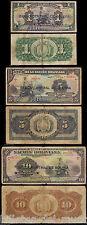 B-D-M BOLIVIA SET 1 5 10 BOLIVIANOS 1911 (1929) PICK 112 113 114 RC/BC