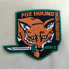 METAL GEAR FOXHOUND FOX HOUND EMBROIDERY IRON ON PATCH BADGE
