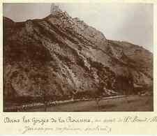 France, Dans les Gorges de la Roane, en aval de St Benoît (Drôme)  Vintage citra