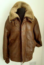 MEN'S BROWN SHEEPSKIN  FLYING AVIATOR JACKET- SIZE M - #2572