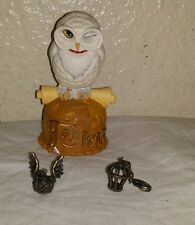 HARRY POTTER FIGURINE HEDWIG THE OWL DEPT 56  WARNER BROS TRINKET BOX