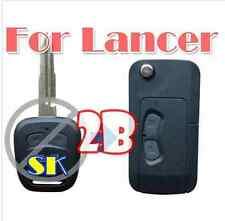 2button blank modified flip folding remote Key Shell for Mitsubishi Lancer s330