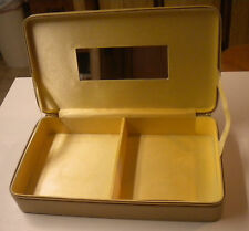 Estee Lauder Gold Hardside Zippered Travel Makeup Case with Mirror