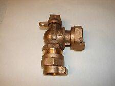 """NEW Mueller P-24259 -330N 1"""" Ball Angle Water Meter Valve CTS PJX  Saddle Nut"""