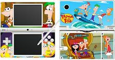 NDSi nintendo DSi - PHINEAS AND FERB - 4 Piece - Sticker Skin vinyl