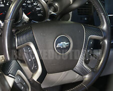 (07-13) Silverado Tahoe Carbon Fiber Steering Wheel Spoke Overlay Decal Cover