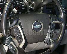 (07-13) GMC Sierra Yukon Carbon Fiber Steering Wheel Spoke Overlay Decal Cover