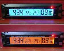 12V Car Auto Digital led In/Out C/F Clock time Thermometer Voltage Volt Meter