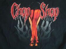 CHOP SHOP Automotive Tour '04 Sexy Legs Black T Shirt Men's Size XL