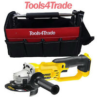 Dewalt DCG412N 18V XR Li-ion Cordless Grinder Bare Unit + Tote Bag