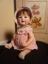"""Antique HTF 13"""" Gans & Seyfarth 6789 Composition Bisque Head Baby/Toddler Doll"""