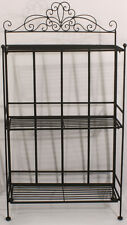 Black Scroll Design Free Standing 3 Shelf Shelves Rack Bathroom Kitchen Bedroom