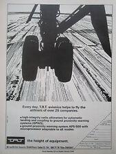 11/1977 PUB TRT AVIONICS AVIONIQUE AIRLINERS AIRLINES ALTIMETER GPWS ORIGINAL AD