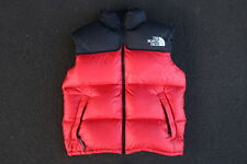 Vintage 90s North Face Nupste Down Vest Size S Red Black