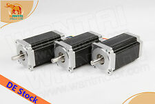 IT&EU FREE,CNC Wantai 3PCS Nema34 Stepper Motor Single Shaft 1080oz-in Router