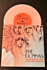 """THE DONNAS I Don't Want To Know 2004 EU 7"""" SINGLE IN PICTURE SLEEVE PINK VINYL"""