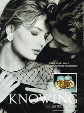 PUBLICITE ADVERTISING 025  1992  ESTEE LAUDER  parfum KNOWING