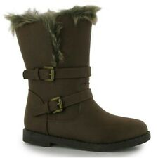 Miso Faith Biker Childrens Boots- Brown UK12 EU31 JS20 03