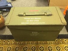 Vintage metal AMMO BOX Vietnam Era Dated 1967 Ammunition Case Military Army