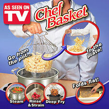 Chef Basket Kitchen Cooking Tool Steam Rinse Strain Deep Fry As Seen On TV