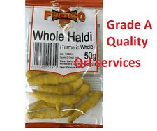 50g WHOLE DRIED TURMERIC ROOT ( WHOLE HALDI ) GRADE A QUALITY SPICES SEASONINGS