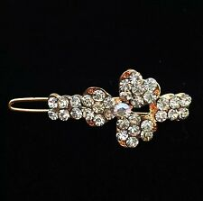 USA SELLER Hair Clip Hairpin Rhinestone Crystal Fashion Vintage Flower Clear Q7