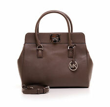 Orginal Michael Kors Astrid Elephant lg satchel Leather cuero bolso Bag marrón