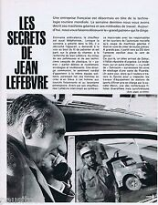 COUPURE DE PRESSE CLIPPING 1969 JEAN LEFEBVRE , l'Entrepreneur (5 pages)