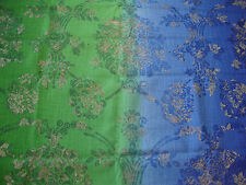 170cm DESIGNERS GUILD Sukumala linen blend curtain fabric remnant    blue/green