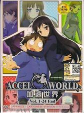 Accel World Vol. 1-24 End Japanese Anime DVD Box Set + English Subtitles
