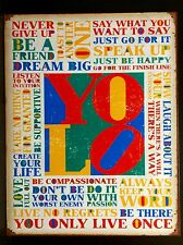 You Only Live Once YOLO TIN SIGN rustic Metal Quote Poster Bar Wall Decor