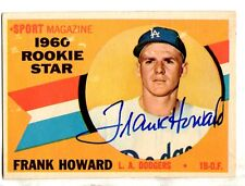 Signed  FRANK HOWARD 1960 Topps Card #132 - COA